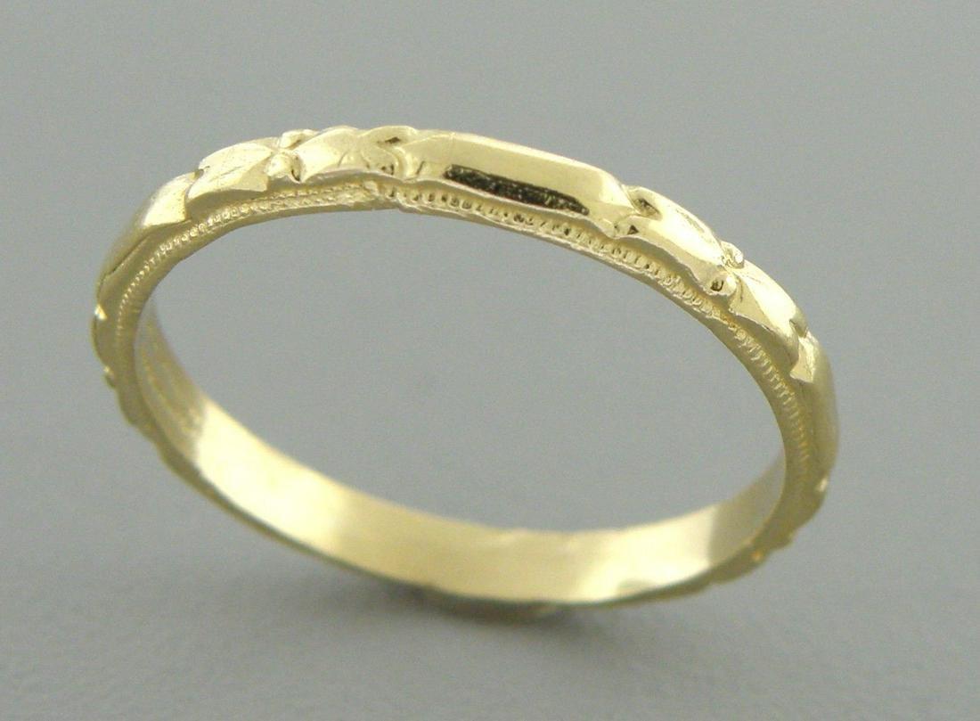 14K Y/ GOLD RING ETERNITY WEDDING BAND RING SIZE 7