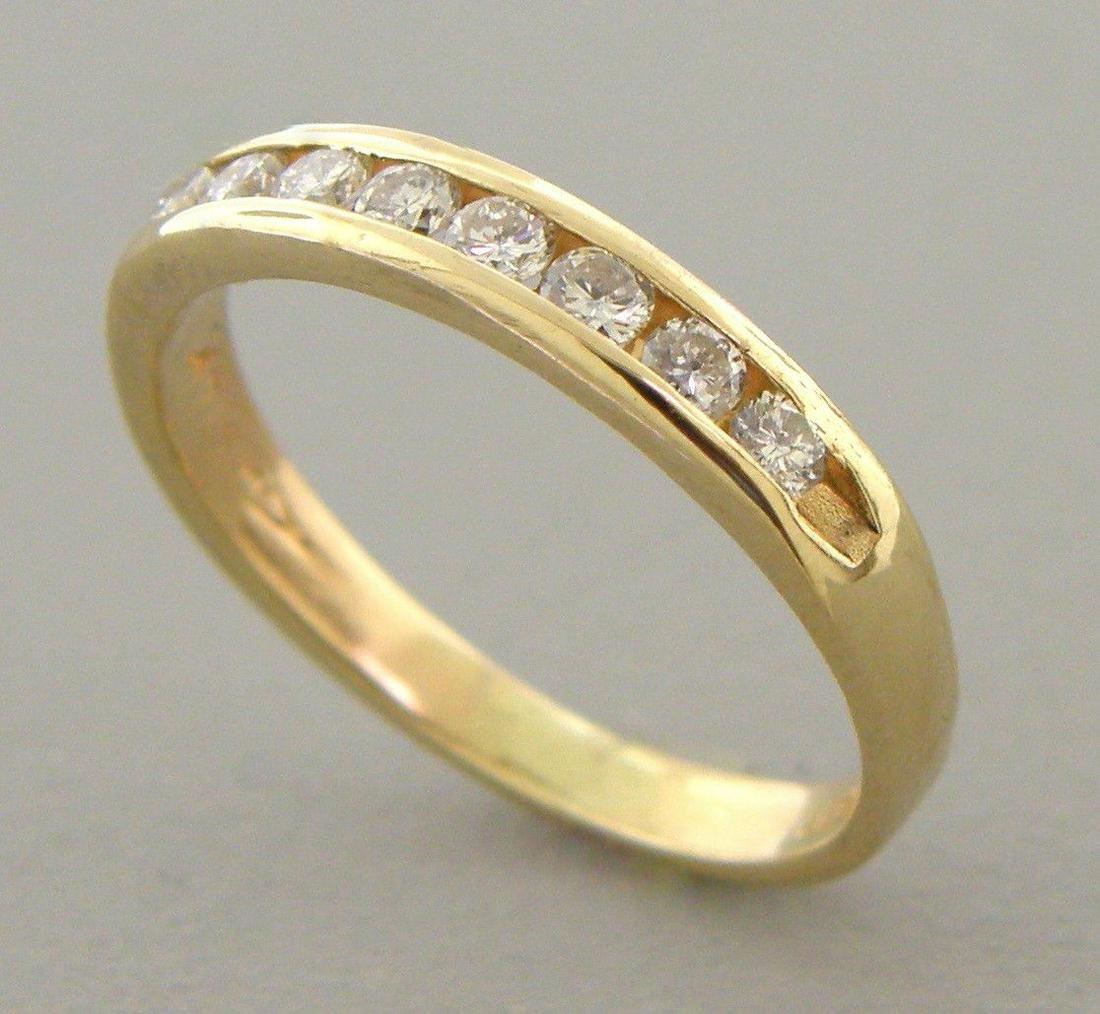 14K YELLOW GOLD LADIES DIAMOND RING WEDDING BAND 0.24ct