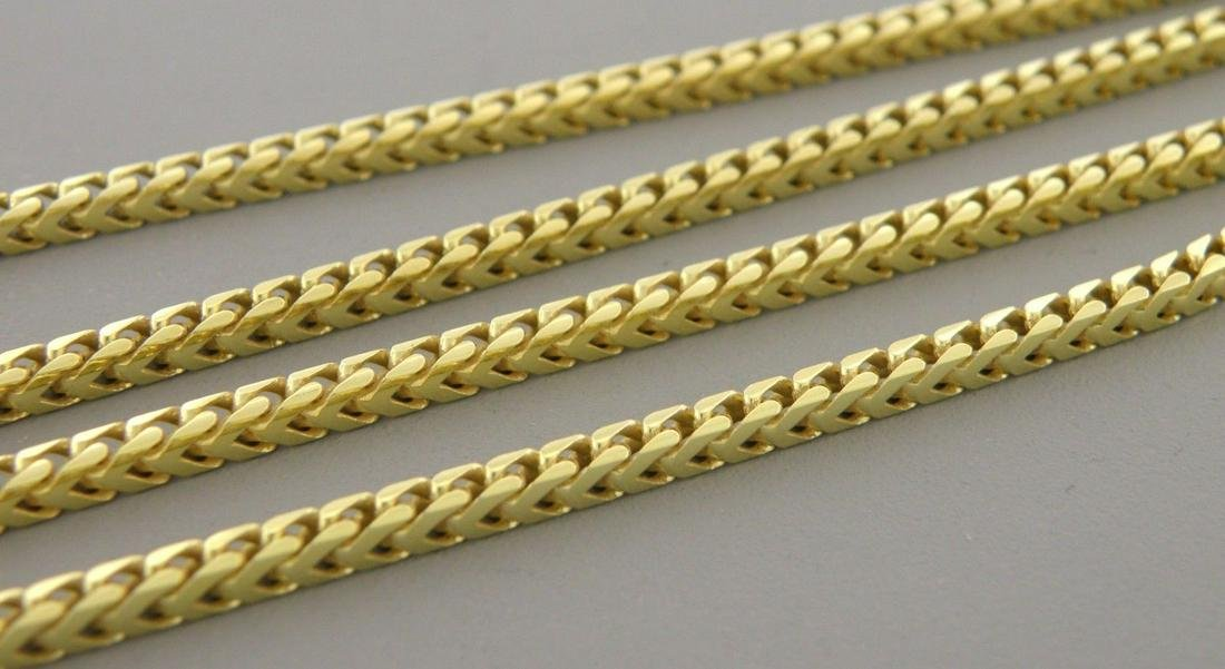 GOLD PLATED STERLING SILVER FRANCO CHAIN NECKLACE 30""