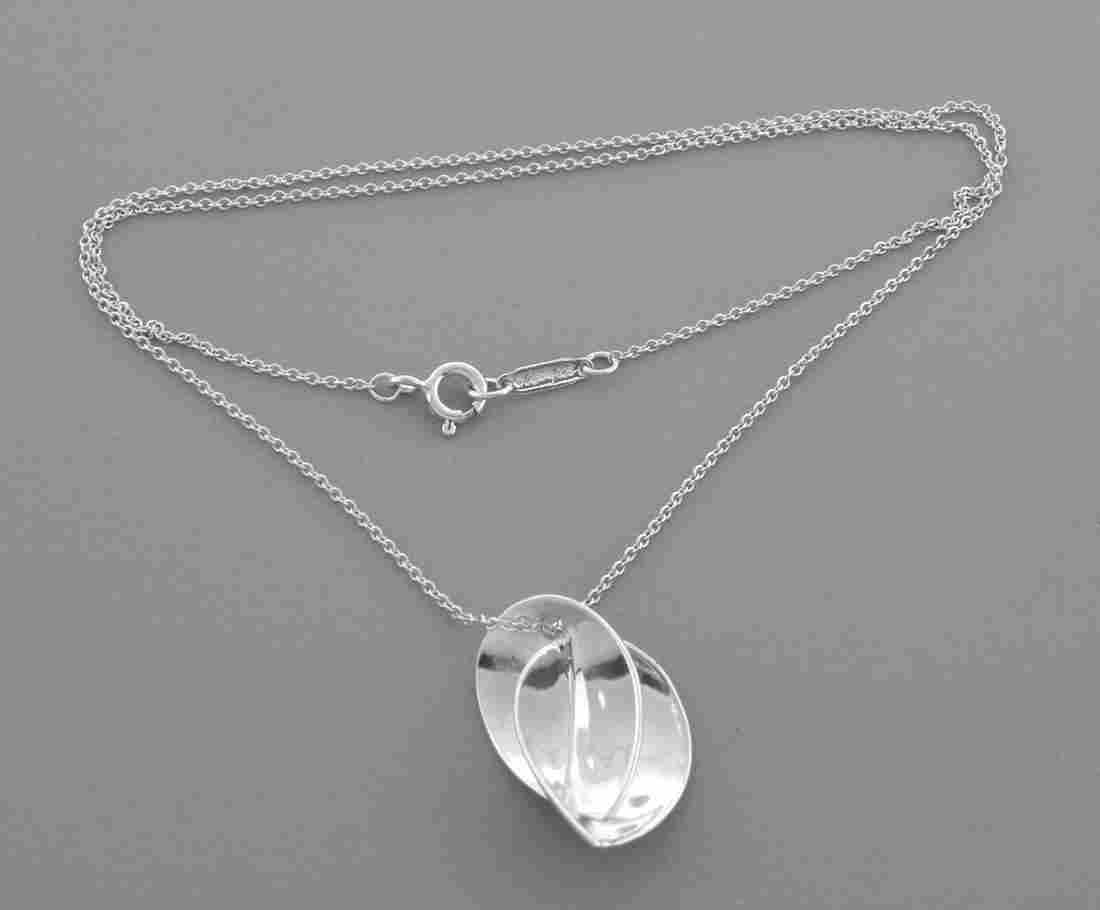 TIFFANY & CO. STERLING SILVER FRANK GEHRY NECKLACE 16""