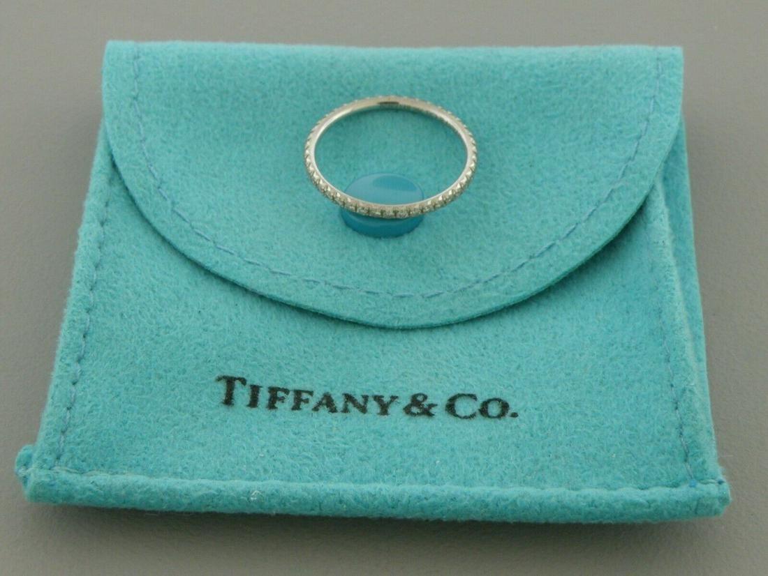 TIFFANY & Co. 18K WHITE GOLD DIAMOND ETERNITY BAND RING