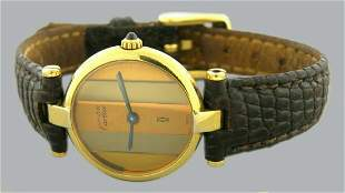 CARTIER MUST DE VERMEIL TRI COLOR GOLD STERLING WATCH