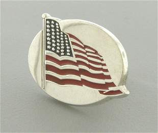 TIFFANY & Co. STERLING SILVER AMERICAN FLAG PIN