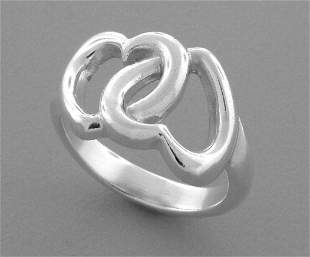 JAMES AVERY STERLING SILVER DOUBLE HEART RING SIZE 6