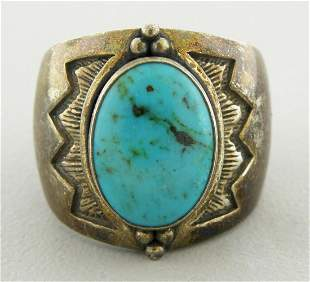 CAROLYN POLLACK RELIOS STERLING SILVER TURQUOISE RING