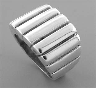 VINTAGE JAMES AVERY STERLING SILVER CIGAR BAND RING