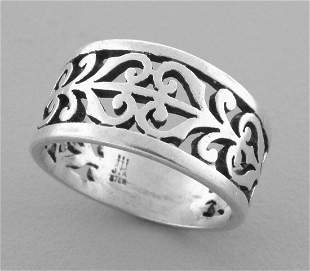 JAMES AVERY STERLING SILVER SCROLL ADOREE RING SIZE 7