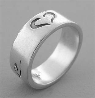 VINTAGE JAMES AVERY STERLING SILVER LOVE HEART RING