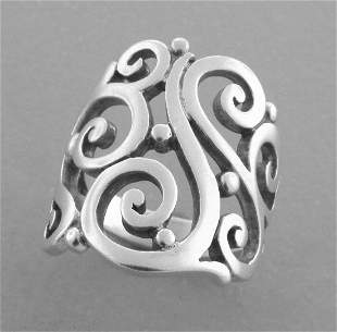 JAMES AVERY STERLING SILVER OPEN SORRENTO RING