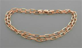 14K ROSE GOLD OVAL LINK CHAIN NECKLACE 3.5mm - 20""