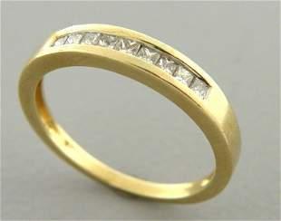 14K YELLOW GOLD LADIES DIAMOND RING WEDDING BAND