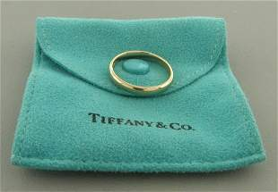 TIFFANY & CO. 18K ROSE GOLD 3mm WEDDING BAND RING