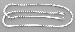 NEW STERLING SILVER FANCY UNIQUE BOX CHAIN NECKLACE 3MM