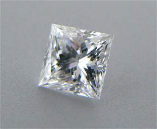 3.3mm PRINCESS CUT NATURAL UNTREATED DIAMOND F VVS1