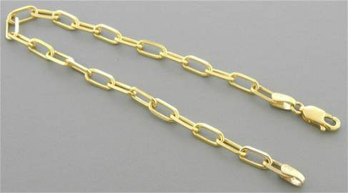 14K YELLOW GOLD OVAL LINK CHAIN BRACELET 3.5mm