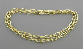 14K YELLOW GOLD OVAL LINK CHAIN NECKLACE 3mm - 18""