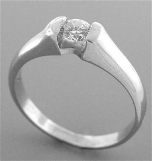 0.25ct PLATINUM DIAMOND ENGAGEMENT RING SOLITAIRE H SI1