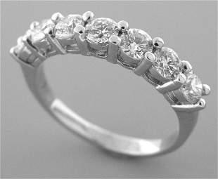 PLATINUM DIAMOND 7 STONE WEDDING BAND RING 2ct ANY SIZE