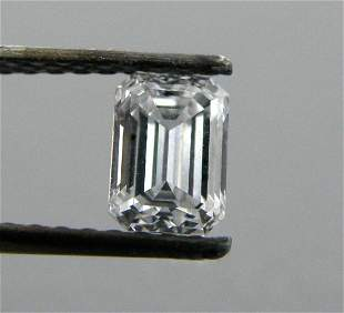 0.50ct EMERALD CUT LOOSE NATURAL DIAMOND F VVS1