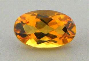 10x8mm LOOSE NATURAL OVAL CUT CITRINE