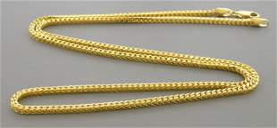 14K YELLOW GOLD SOLID FRANCO CHAIN NECKLACE HEAVY