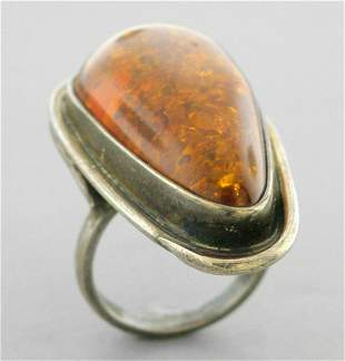 VINTAGE BEAUTIFUL STERLING SILVER LARGE COCKTAIL RING
