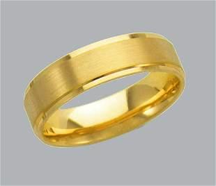 14K Y/ GOLD WEDDING BAND RING COMFORT SATIN 6mm SIZE 11