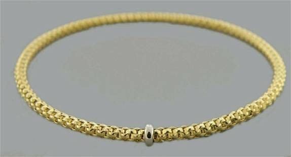 NEW 14K YELLOW GOLD LADIES STRETCHABLE BANGLE BRACELET