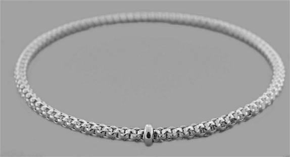 NEW 14K WHITE GOLD LADIES STRETCHABLE BANGLE BRACELET