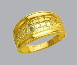 NEW 14K YELLOW GOLD LADIES RING BAND FILIGREE