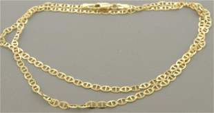 """14K YELLOW GOLD MARINER LINK NECKLACE - 4mm - 22"""""""