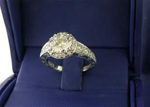 TACORI PLATINUM 0.71ct DIAMOND BLOOM ENGAGEMENT RING