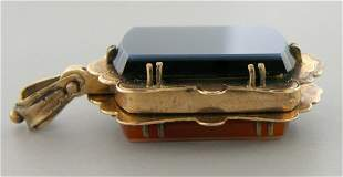 ANTIQUE 18K YELLOW GOLD BEAUTIFUL LOCKET PENDANT HEAVY