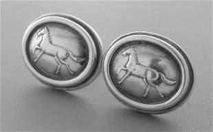 KIESELSTEIN CORD STERLING HORSE EQUESTRIAN EARRINGS