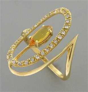 VINTAGE 14K YELLOW GOLD OLD MINE CUT DIAMOND RING