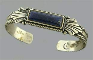 CAROLYN POLLACK RELIOS STERLING SILVER LAPIS CUFF