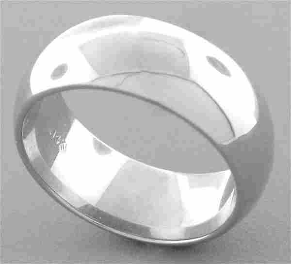 14K WHITE SOLID GOLD 7MM COMFORT BAND WEDDING RING 8