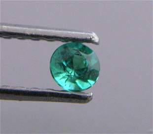 3mm ROUND CUT NATURAL COLOMBIAN EMERALD