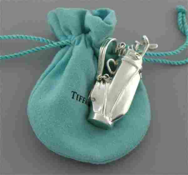 TIFFANY & Co. STERLING SILVER GOLF BAG CLUBS SET POUCH