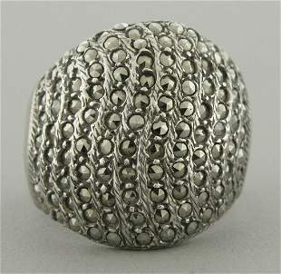 VINTAGE BEAUTIFUL ND STERLING SILVER MARCASITE RING