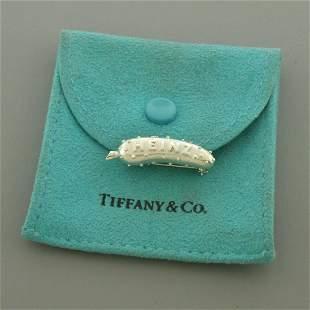 TIFFANY & CO. STERLING SILVER HEINZ PICKLE PIN BROOCH