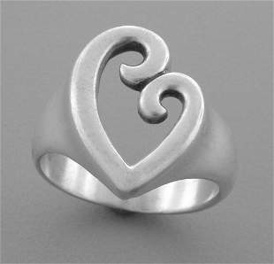 JAMES AVERY STERLING SILVER MOTHER & CHILD HEART RING