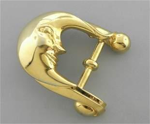 KIESELSTEIN CORD GOLD STERLING SILVER MOON BUCKLE