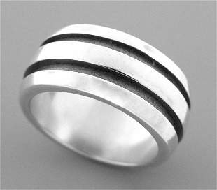 TIFFANY & Co. STERLING SILVER ATLAS GROOVED RING 5.5