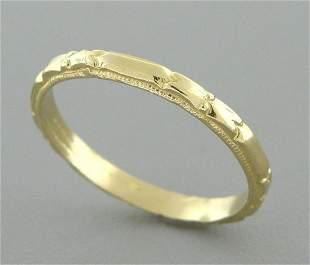 14K Y/ GOLD RING ETERNITY WEDDING BAND RING SIZE 6