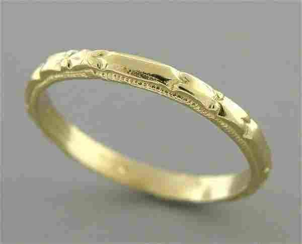 14K Y/ GOLD RING ETERNITY WEDDING BAND RING SIZE 5