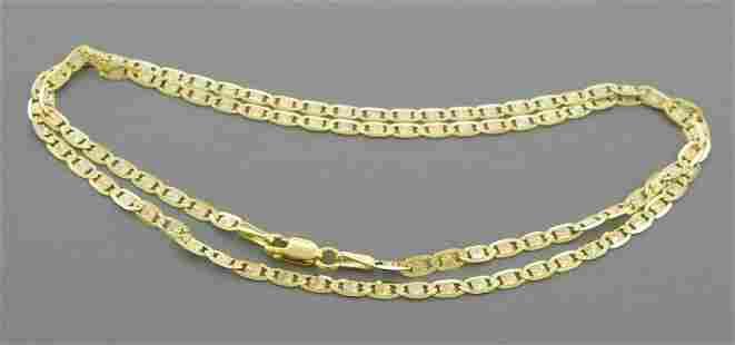14K TRI COLOR GOLD VALENTINO CHAIN NECKLACE