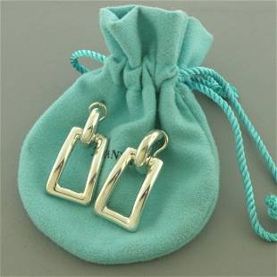 TIFFANY & Co. STERLING SILVER RECTANGLE EARRINGS
