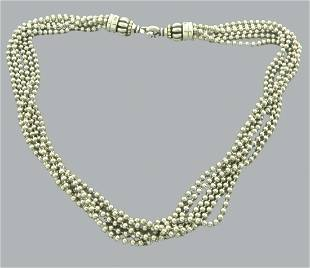LAGOS CAVIAR 18K GOLD STERLING SILVER STRAND NECKLACE