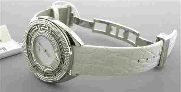 NEW IN BOX VERSACE DESTINY WOMENS LEATHER MOP WATCH